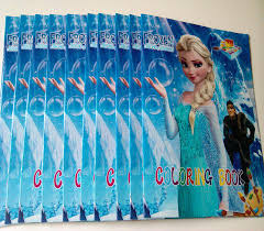 Frozen Anna Elsa Diy Colouring Notebook And Sticker 107582 Inches Baby Coloring Book Children Puzzle Painting Kids Holiday Gift Colour Games