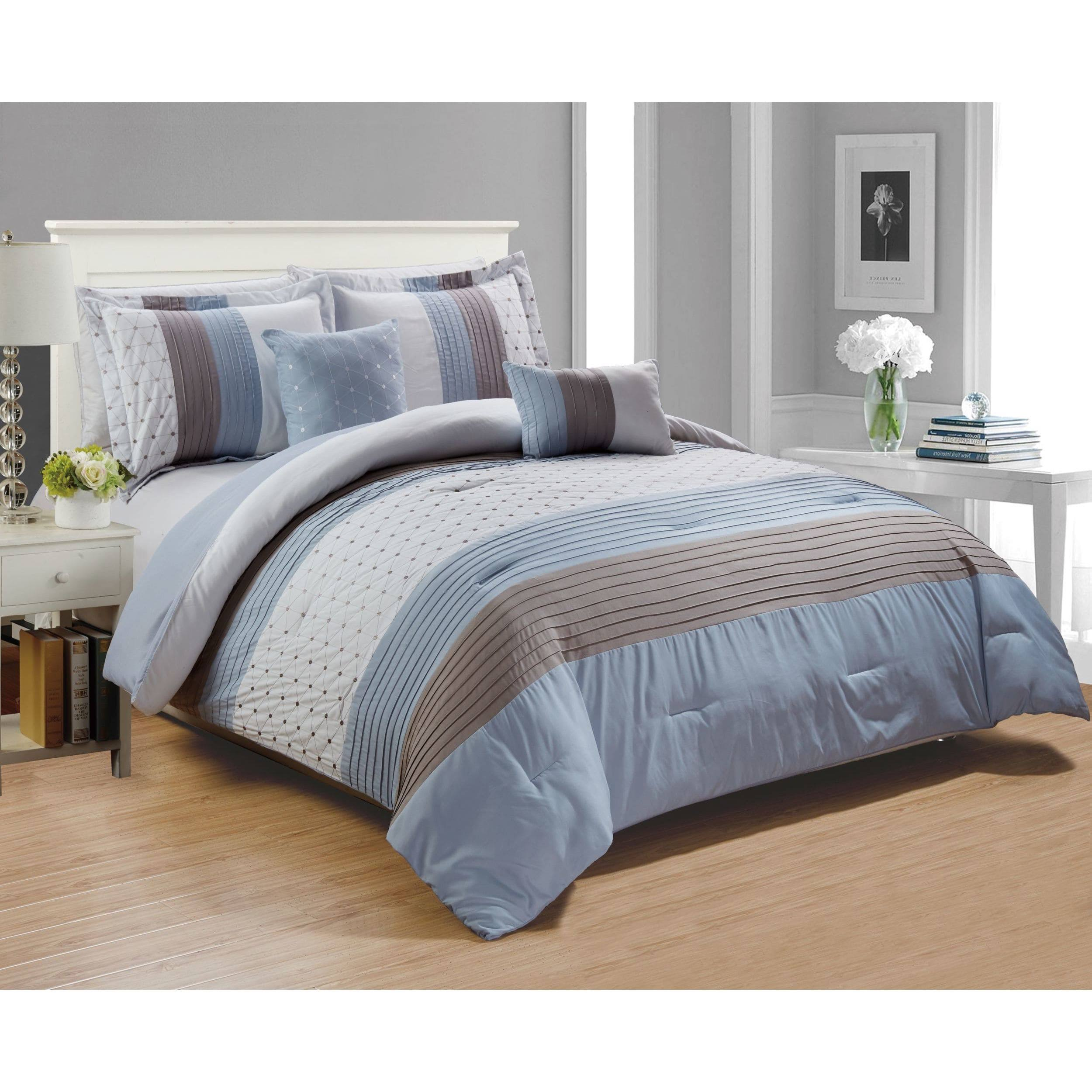 RT Designers Collection Westfield Embroidered 5 Piece Comforter Set, Queen