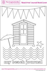 Summer Beach Hut Coloring Sheet Template