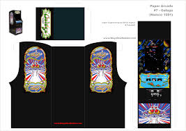 Galaga Arcade Cabinet Kit by 68 Best Paper Arcade Games Images On Pinterest Arcade Games