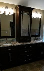 Bathroom Vanity Tower Ideas by Vanity Cabinet Gallery Kc Wood