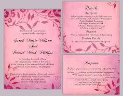 Wedding Invitation Pink Background