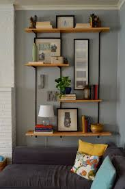 Wall Shelf Decor And Rustic Decorative Plates Living Room Shelving Designs Wonderfuul