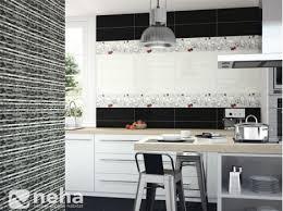 carrelage cuisine noir et blanc faience décorative cuisine noir et blanche carrelage mural