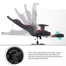 Reclining Gaming Chair With Footrest by Merax Racing Style High Back Gaming Chair Ergonomic Design Office