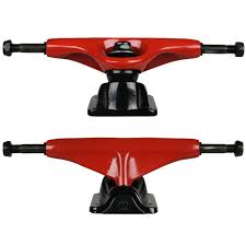 Tensor Trucks 5.0 Red/Black Magnesium Slider Pair