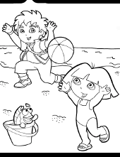 Coloring Pages Of Dora The Explorer Books For Boys And Girls