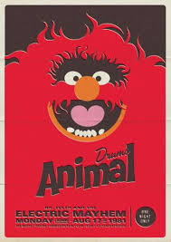 Rockin Puppet Pictures Retro Muppet Concert Posters