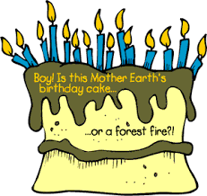 birthday cake with too many candles clipart