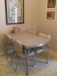Vintage Dinette Set They Were Always Made Of Laminate And Very Durable The Chairs Covered In A Sturdy Plastic Matched Table