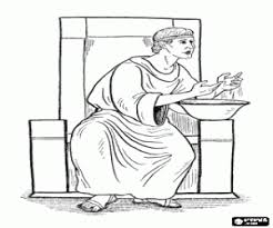 Pontius Pilate Washes His Hands Jesus Is The Prisoner Coloring Page
