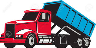 100 Roll Off Truck Illustration Of A Off With Container Bin On Back Viewed