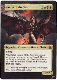 mtg altered art kaalia of the vast by lxu777 on deviantart