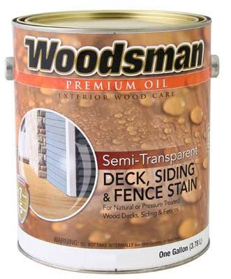 True Value Woodsman Neutral Base Semi Transparent Oil Deck and Siding Stain - 1 Gallon
