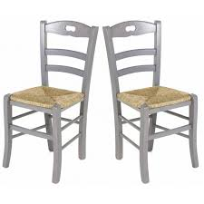 chaise de cuisine lot de 2 chaises de cuisine en gris perle