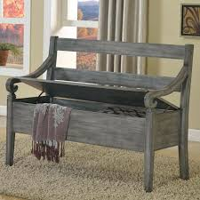 Rustic Style Furniture Weathered Gray Storage Bench For Sale In Texas