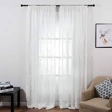top finel gestickte geäst voile gardinen kräuselband vorhang
