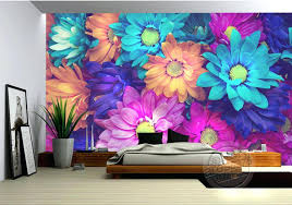 3d Wall Art Wallpaper Ides Charming Flowers Mural Natural Scenery Photo Painting Designer