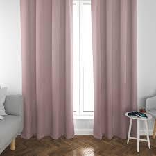 schöner leben vorhang vorhangschal mit smok schlaufenband fischgrätmuster streifen rosa meliert 245cm oder wunschlänge
