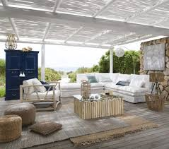 modulare eckelement für sofa mit leinenbezug weiß maisons du monde
