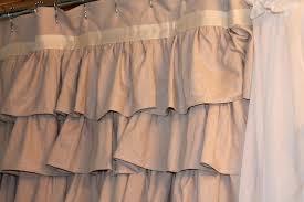 Walmart Curtain Rods Canada by Shower Curtains Beige Ruffle Shower Curtain Bathroom Inspirations