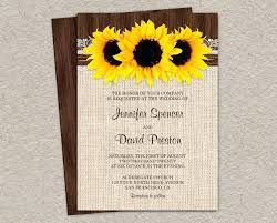 Amazing Rustic Sunflower Wedding Invitations And With Burlap Lace Country