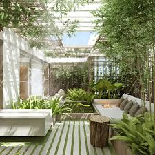 NYC Garden Design Rooftop Zen Garden For Yoga Studio Amber Freda