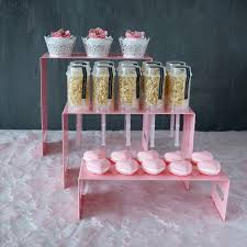 line Shop 3PCS Set Cake Push Pops product display Stands Pink