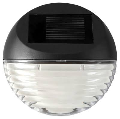 Moonrays 95027 Wall Post Mount Solar Deck Light - Round
