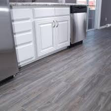 Home Depot Floor Tile by Snapstone Weathered Grey 6 In X 24 In Porcelain Floor Tile 5 Sq