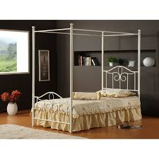 Twin Metal Canopy Bed White With Curtains by Optional Bed Canopy Curtains Best Cover Twin Canopy Bed U2013 Laluz