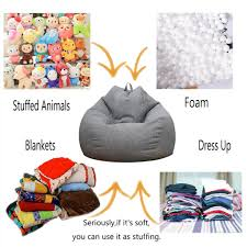 Loviver 2x Stuffed Animal Storage Bean Bag Chair Cover Large Beanbag  Slipcover Gray Nobildonna Stuffed Storage Birds Nest Bean Bag Chair For Kids And Adults Extra Large Beanbag Cover Animal Or Memory Foam Soft 7 Best Chairs Other Sweet Seats To Sit Back In Ehonestbuy Bags Microfiber Cotton Toy Organizer Bedroom Solution Plush How Make A Using Animals Hgtv Edwards Velvet Pouch Soothing Company Empty Kid Covers Your Childs Blankets Unicorn Stop Tripping 12 In 2019 10 Of Versatile Seating Arrangement