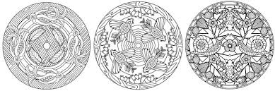Animal Mandalas Stress Relieving Adult Coloring Book Pages