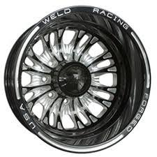 Weld Racing D54B7065FR Rekon HD Forged D54 Black Anodized Dually