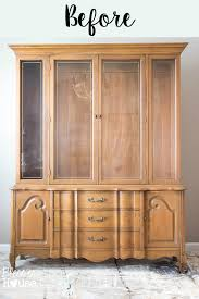 provincial china cabinet makeover