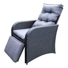 Wicker Recliner Chair Brown Wicker Outdoor Recliner Rocking Chair