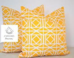 Image Is Loading 4 X Yellow WATERPROOF OUTDOOR Cushion Cover 18