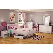 south shore step one 2 drawer full queen size platform bed in pure