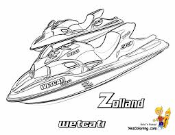 Zolland Wetcati Watercraft Boat Coloring Picture