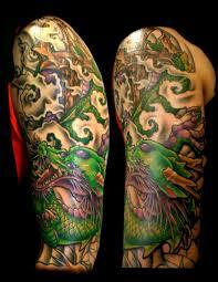 Chinese Dragon Tattoo Sleeve Designs Oriental Tattooshunt