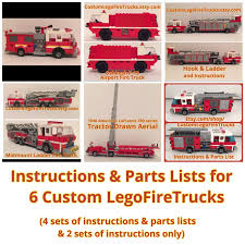 6 SETS OF Custom Lego Fire Truck Instructions & Parts Lists On CD ... Images Of Lego Itructions City Spacehero Set 6478 Fire Truck Vintage Pinterest Legos Stickers And To Build A Fdny Etsy Lego Engine 6486 Rescue For 63581 Snorkel Squad Bricksargzcom Mega Bloks Toy Adventure Force 149 Piece Playset Review 60132 Service Station Spin Master Paw Patrol On A Roll Marshall Garbage Truck Classic Legocom Us 6480 Light Sound Hook Ladder Parts Inventory 48 60107 Sets
