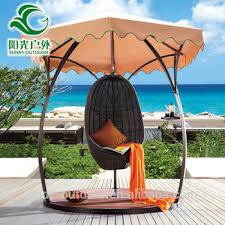 Factory Price WPC Wood Outdoor Round Swing Chair