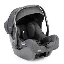 Joie I-Gemm 0+ Car Seat + Chicco Pocket Snack Portable Highchair Booster  Seat Bundle - Pavement / Dark Grey