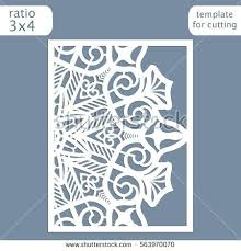 Laser Cut Wedding Invitation Card Template Out The Paper With Lace Pattern