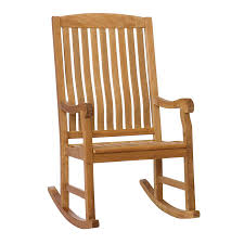 Boston Loft Furnishings Teak Rocking Chair With Slat At ...