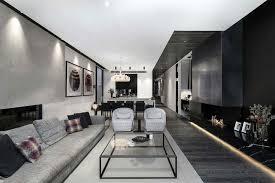 einrichtung in schwarz und weiß kontraste im interieur