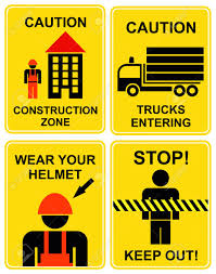 Set Of Caution Signs For Construction Zone. Yellow And Black ... Two Blank Highway Signs Overhead Trucks On Road Transport Concept Fork Lift Operating No Pedestrians Signs From Key Uk Sound Horn Calgary Car Door Magnets Truck Van Magnetic Orange County Company Logo For Trucks With A Driving Cab Manufacture Stock Health Safety De Riding On Forklift Is Forbidden Symbol Occupational Caution Sign 200 X 300mm Rigid Signage Bandit Auto Tyres Fork Lift Operating Sticker And