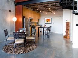 kitchen boasts kitchen floor space with alluring tiles design