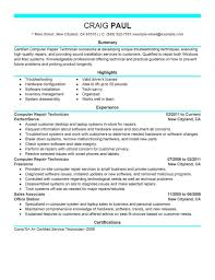 Vet Tech Resume And Skills Summary Veterinary Technician