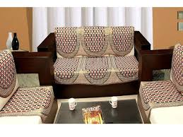 expressionhome 6 piece mahroon sofa cover and chair cover set